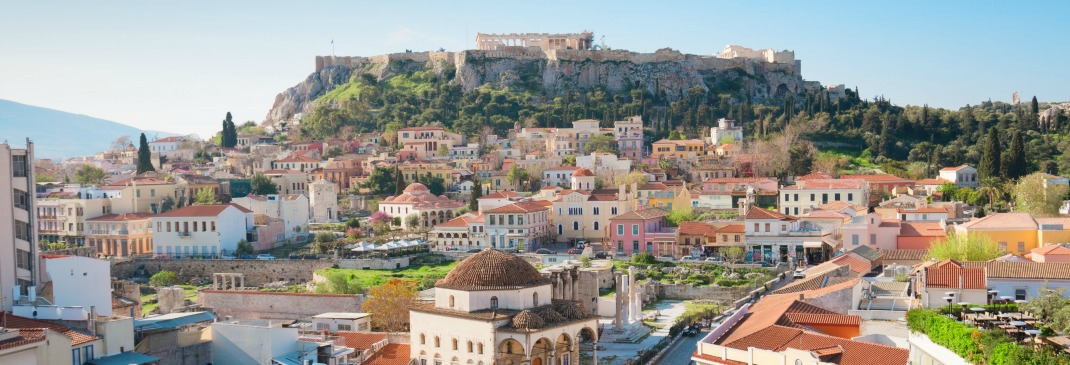 A cityscape of Athens