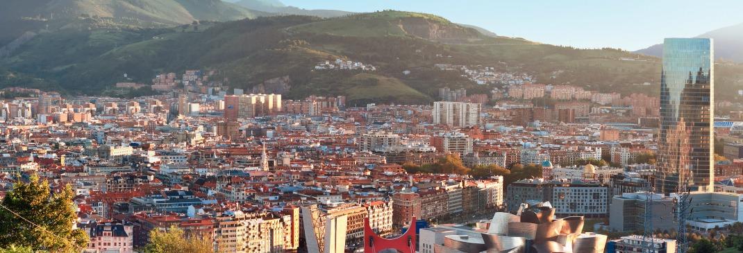 Panoramablick über Bilbao