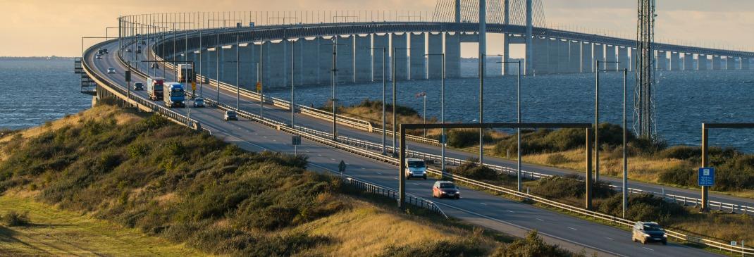 Oresundbrücke zwischen Kopenhagen und Malmö