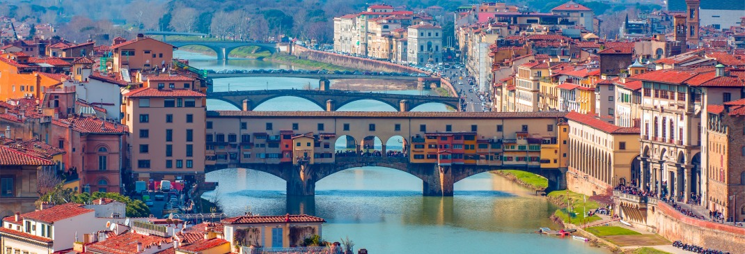 The Arno River runs through the Florence skyline