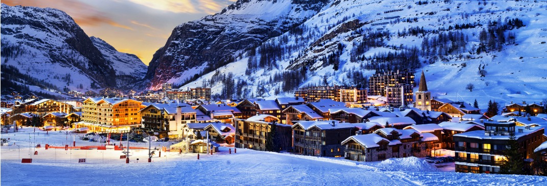 France is home to world-class ski resorts, including Val d'Isere in the Alps