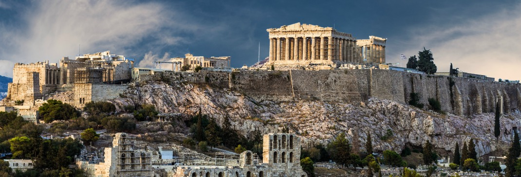 The Temple of Parthenon in Athens