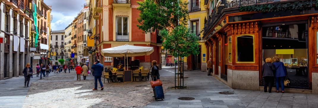Cosy street in Madrid