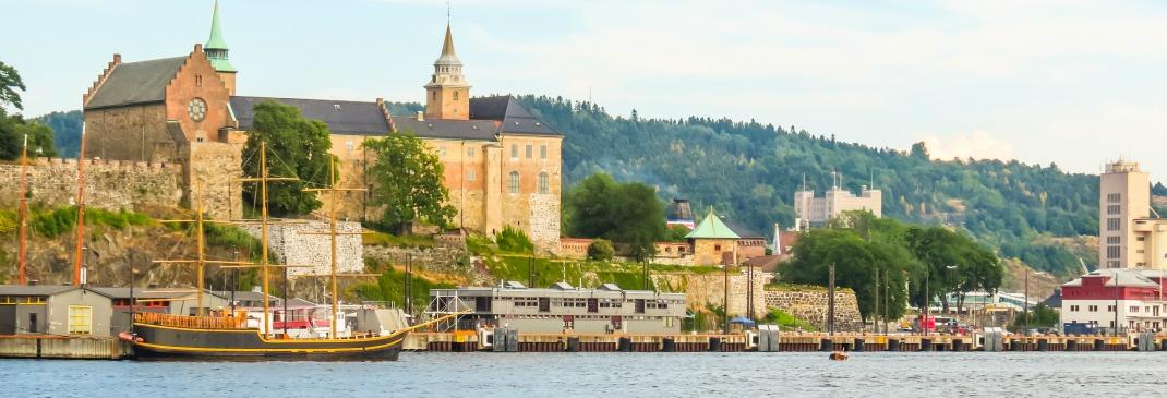 Stadtpanorama von Oslo in Norwegen
