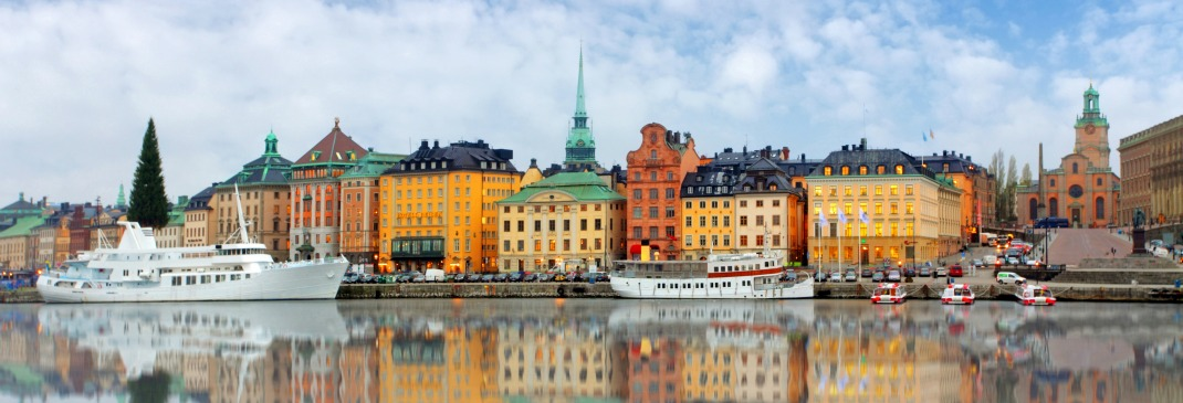 Häuserfassaden in Stockholm