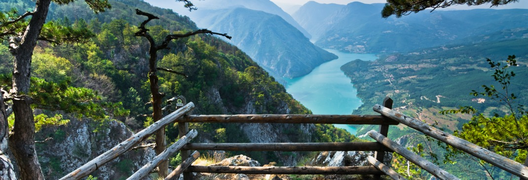 View of Tara mountain and the Drina River from up high