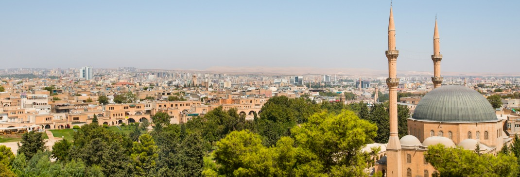 A view across the rooftops of Sanliurfa, Turkey