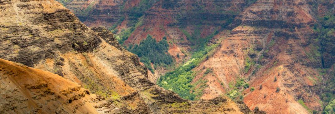 Berge auf Kauai bei Lihue
