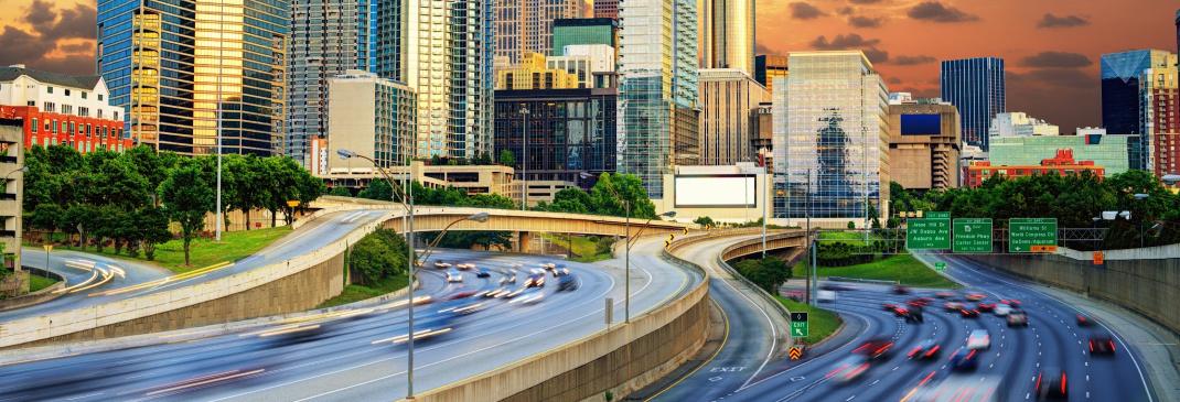 Verkeer in Atlanta en omgeving