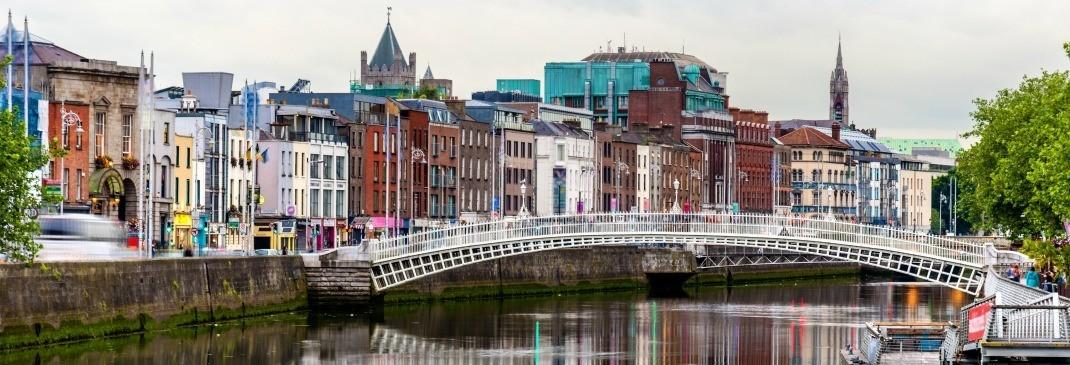 Brücke in Dublin, Irland