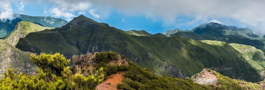 Grüne Hügel auf Madeira