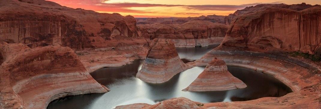 Charakteristische rote Steinformationen in Utah