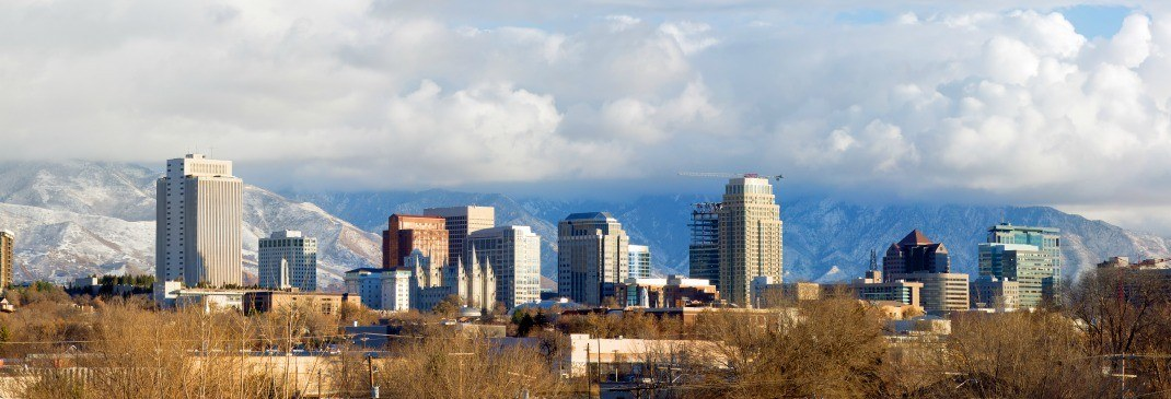 Salt Lake City Skyline in Utah