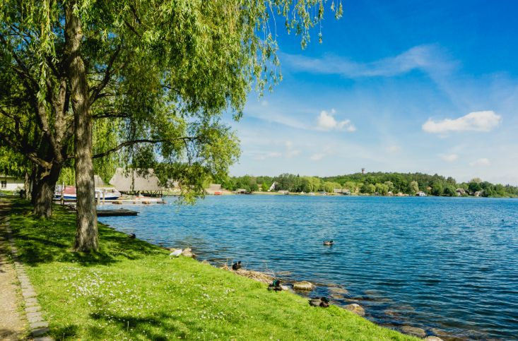 Park am See in Mecklenburg.