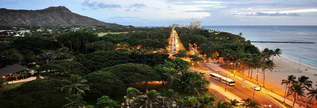 Drive in Honolulu