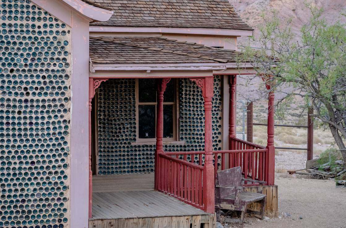 Death Valley bottle house
