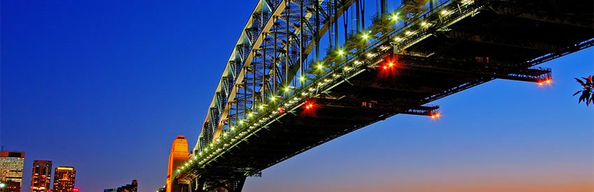 Discover the gorgeous Sydney at night with Hertz car rental banner