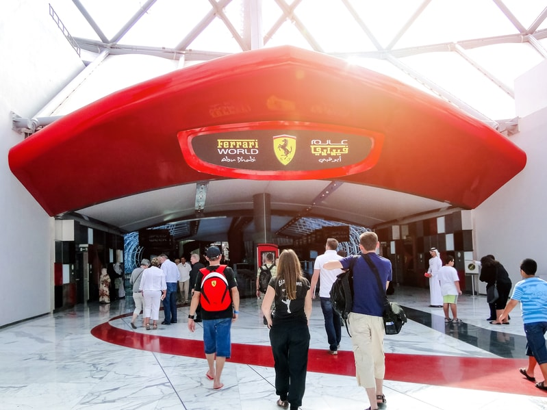 Ferrari World Entrance
