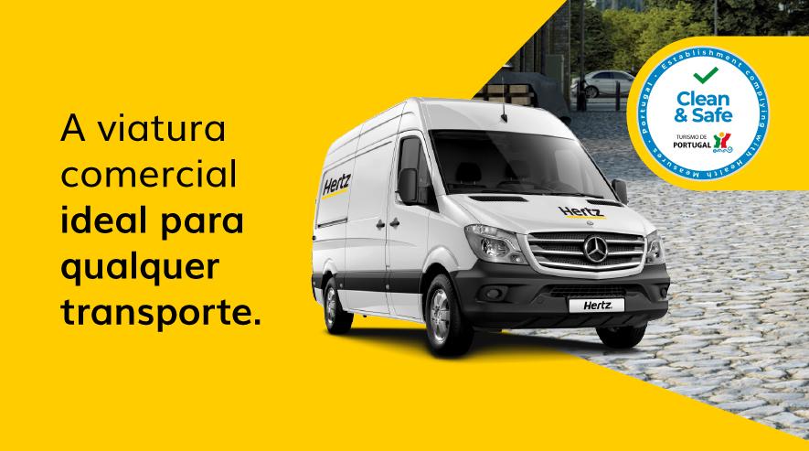 Alugar carrinhas comerciais na Hertz Portugal