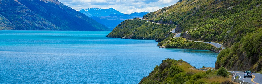Discover Taupo in a rental car banner