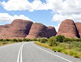 Driving the Red Centre Way from Alice Springs with a car rental