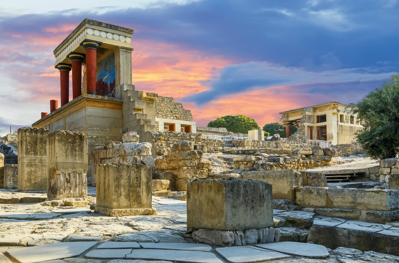 Knossos Palast auf Kreta in Griechenland