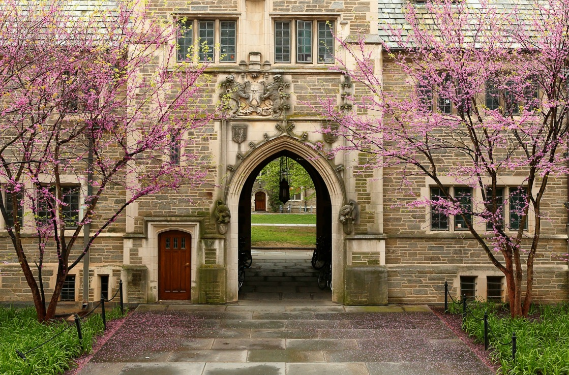 Das Tor zur Princeton University in New Jersey