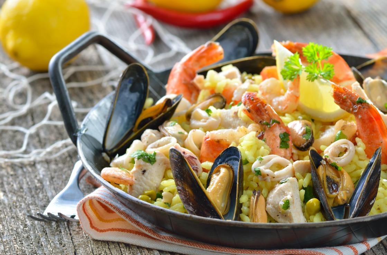 Paella mit Meeresfrüchten aus Valencia