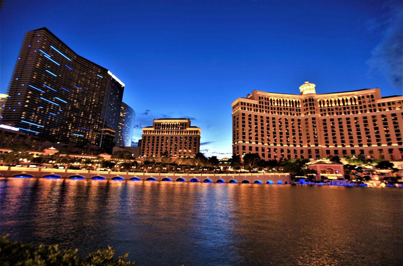 Bellagio in Las Vegas mit Beleuchtung