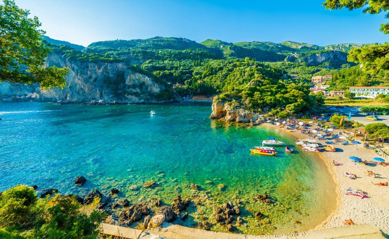 Korfus Landschaft in Griechenland