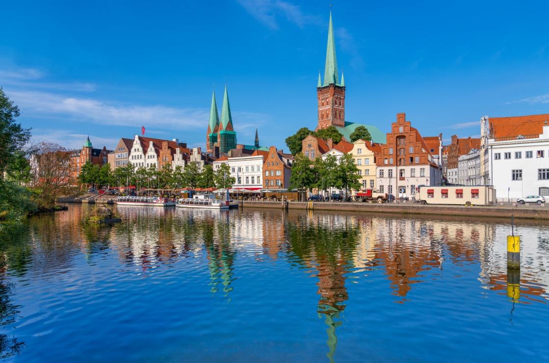 Traveblick in Lübeck, Schleswig-Holstein
