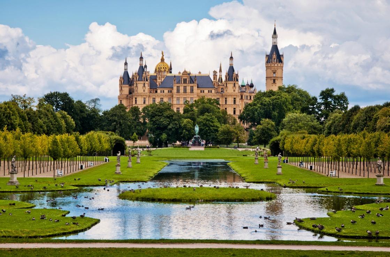 Das Schweriner Schloss in Mecklenburg-Vorpommern