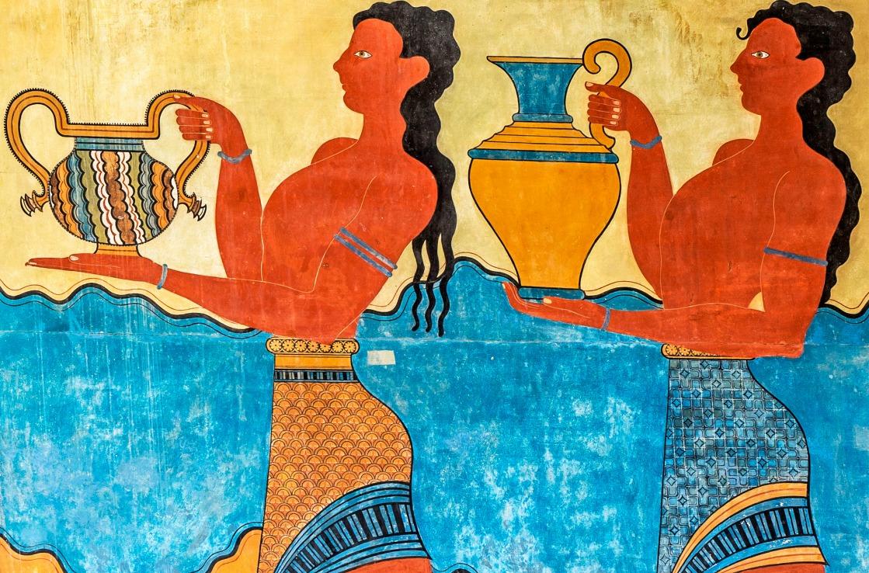 Gemälde im Palast von Knossos