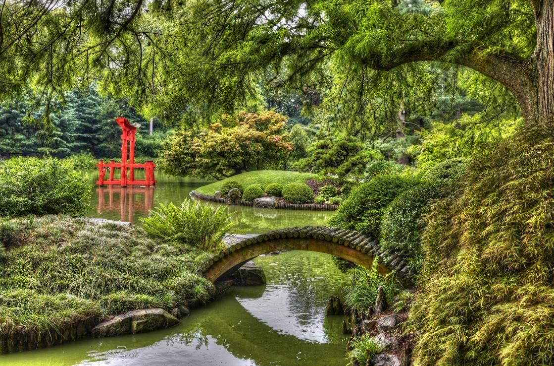 Der japanische Garten im Brooklyn Botanic Garden.