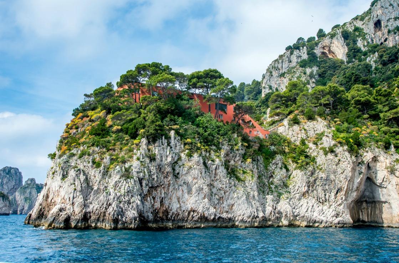 Die Villa Malaparte auf Capri, Italien.