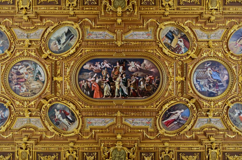 Goldene Decke im Rathaus in Augsburg