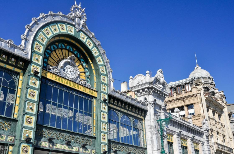 Der Bahnhof in Bilbao