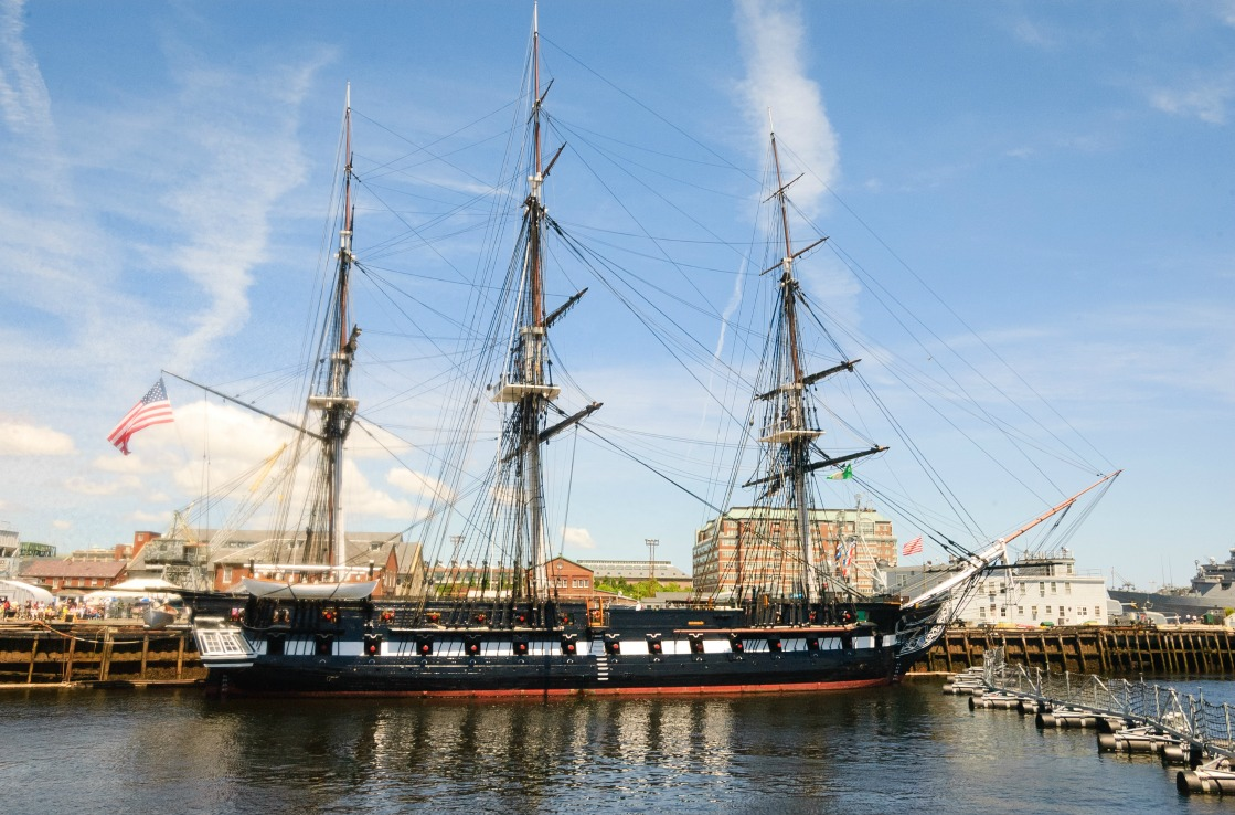Die USS Constitution in Boston