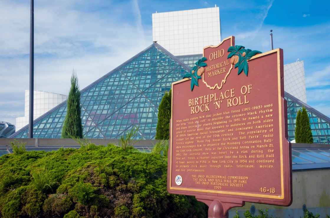 Die Rock'n'Roll Hall of Fame in Cleveland