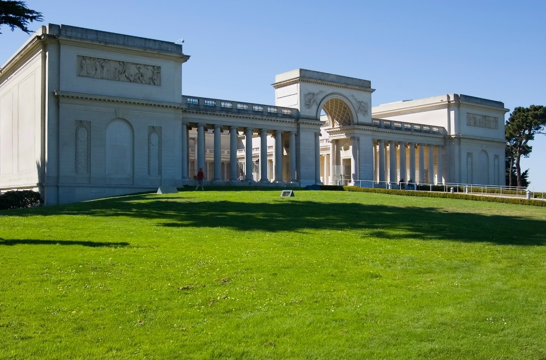 Legion of Honour mit Garten in San Francisco