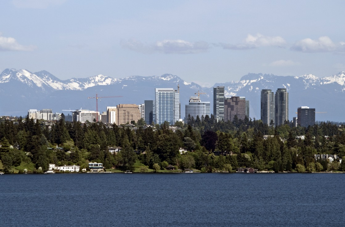 Lake Washington vor Seattles Skyline