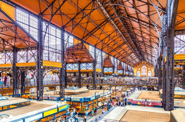 Markthalle in Budapest von Innen