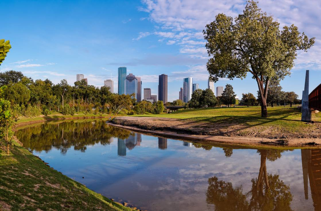 Buffalo bayou park, Houston