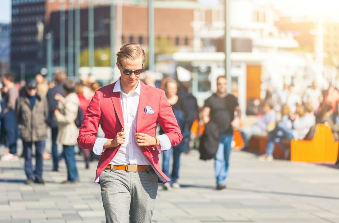 Man walking in Oslo