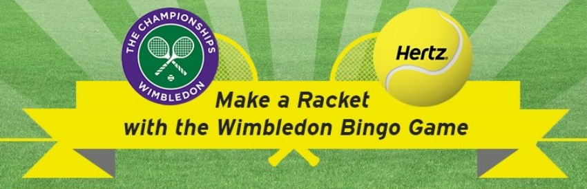 Call 'Game, Set, Match' with the Wimbledon Bingo Game banner