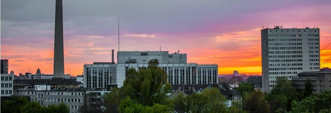 Düsseldorf bei Sonnenuntergang