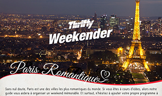 Thrifty weekender-Paris romantique