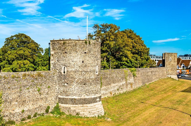 Roman walls in Canterbury