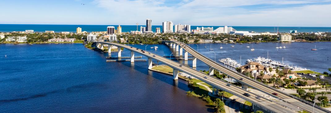 Driving in and around Daytona Beach