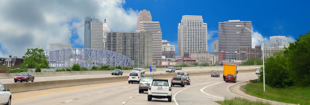 Driving in and around Cincinnati